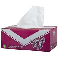 NRL Tissue Box 2Ply Manly Warringah Sea Eagles 200