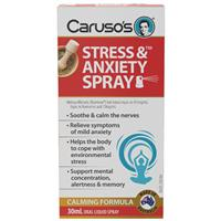 Carusos Natural Health Stress and Anxiety Spray 30ml