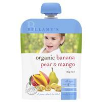 Bellamy Organics Banana Pear & Mango 90g