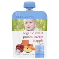 Bellamy Organics Sweet Potato Carrot & Apple 90g