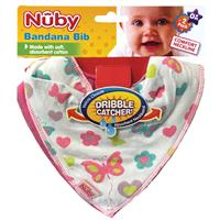 Nuby Bandana Bibs for Girls 2 Pack