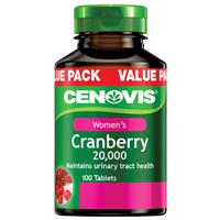Cenovis Cranberry 20000mg 100 Tablets Exclusive Size
