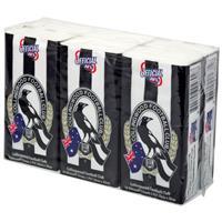 AFL Pocket Tissues Collingwood 6 Pack