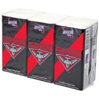 AFL Pocket Tissues Essendon 6 Pack