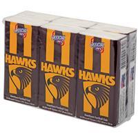 AFL Pocket Tissues Hawthorn 6 Pack