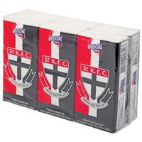 AFL Pocket Tissues St Kilda 6 Pack