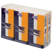 AFL Pocket Tissues West Coast Eagles 6 Pack