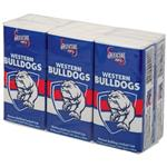 AFL Pocket Tissues Western Bulldogs 6 Pack