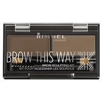 Rimmel Brow This Way Eyebrow Powder Kit 002 Mid Brown