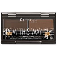 Rimmel Brow This Way Eyebrow Powder Kit 003 Dark Brown
