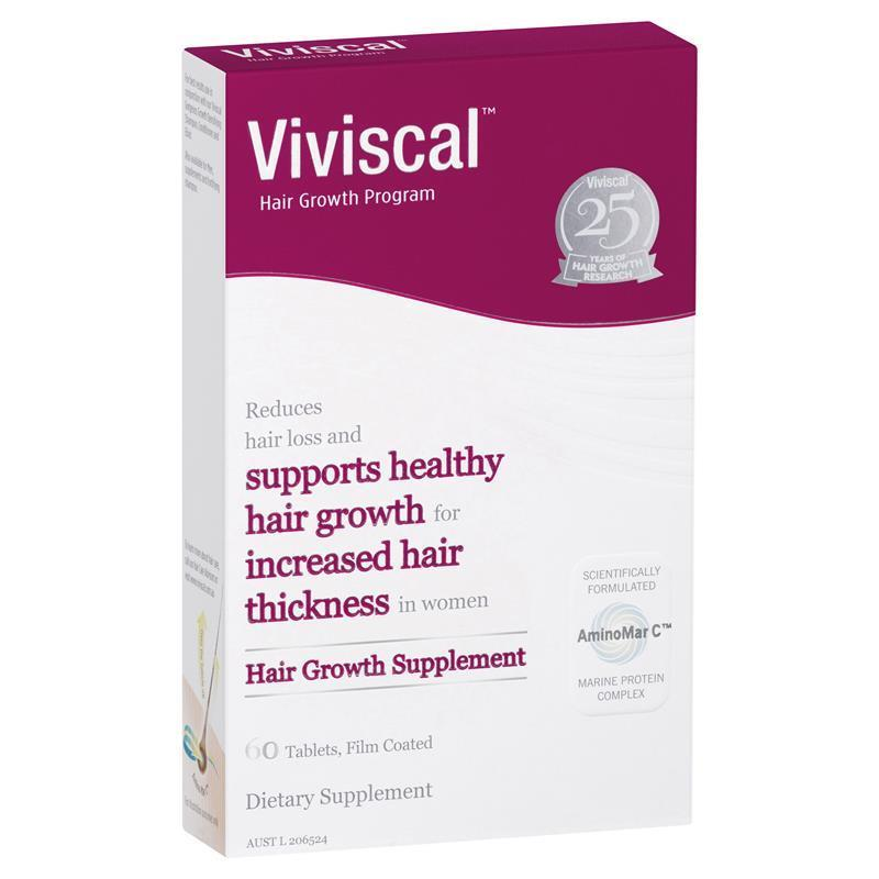 Viviscal Hair Growth and Hair Care Program includes hair growth vitamins and a Types: Hair Supplements, Elixir, Shampoos, Conditioners, Hair Vitamins.