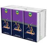 NRL Pocket Tissues Melbourne Storm 6 Pack