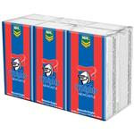 NRL Pocket Tissues Newcastle Knights 6 Pack