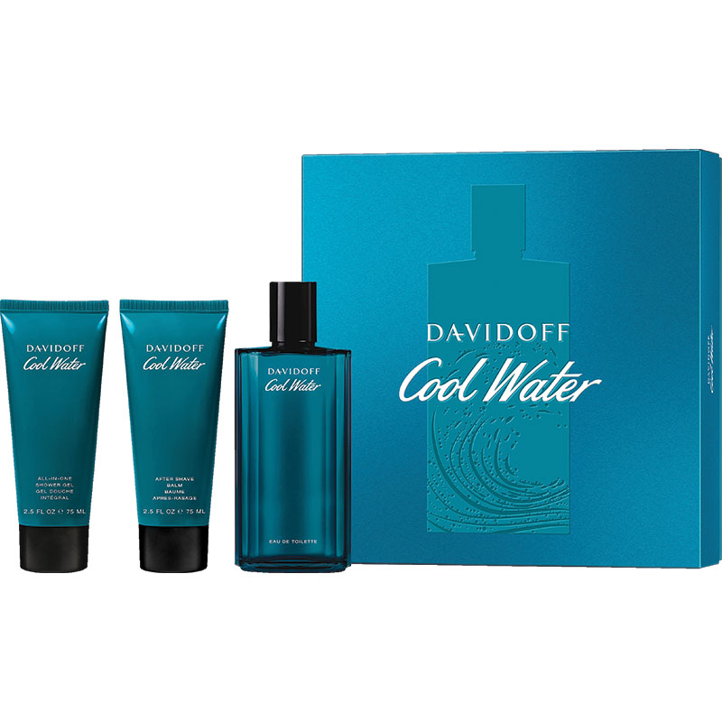 buy davidoff cool water mens eau de toilette 125ml shower gel aftersahve balm 75ml set