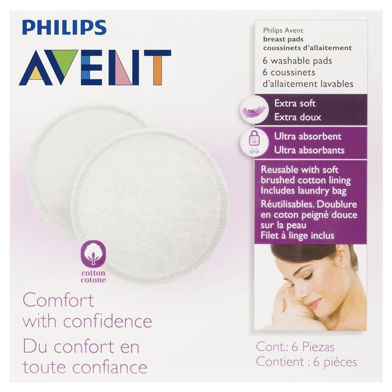 Buy Avent Breast Pads Washable 6 Online at Chemist Warehouse®