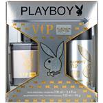 Playboy VIP Platinum for Him Eau De Toilette 100ml + Body Spray Set
