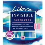 Libra Invisible Pads Super 10