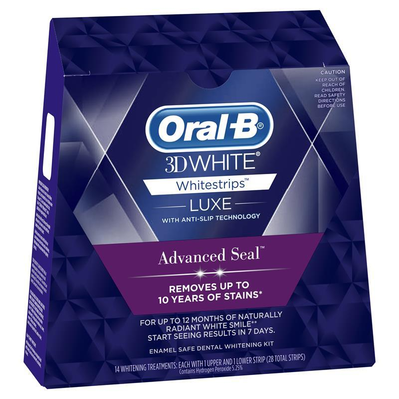 buy oral b 3d white luxe advanced seal white strips 14. Black Bedroom Furniture Sets. Home Design Ideas