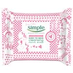 Simple Cleansing Facial Wipes 25 Limited Edition Pink