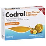 Codral Honey & Lemon 36 Lozenges
