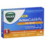 Vicks Action Cold and Flu Day Relief 24 Pack