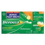 Berocca Value Orange 45 Plus Fizzy Melt Orange