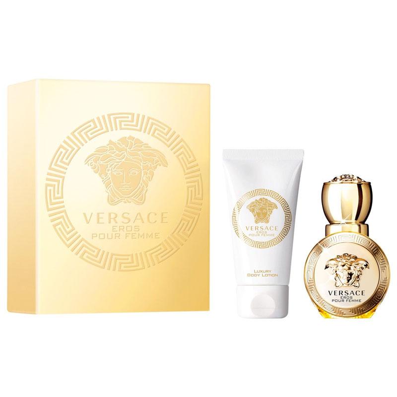 Versace Eros Pour Femme Set Eau De Parfum 30ml Body Lotion 50ml