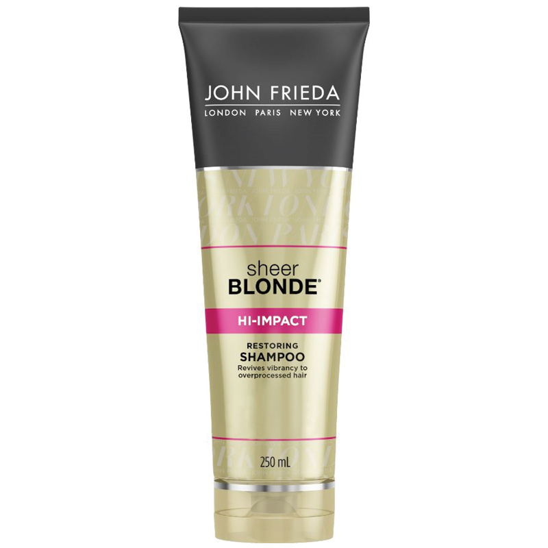 buy john frieda sheer blonde hi impact shampoo 250ml online at chemist warehouse. Black Bedroom Furniture Sets. Home Design Ideas