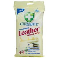 Green Shield Leather Wipes 50
