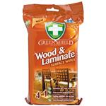 Green Shield Wood and Laminate Wipes 50