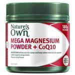 Nature's Own Mega Magnesium Powder + CoQ10 180g