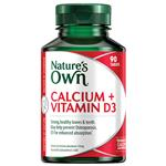 Nature's Own Calcium and Vitamin D3 90 Tablets