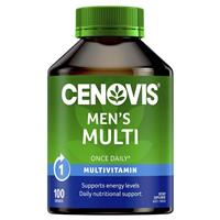 Cenovis Once Daily Men's Multi Vitamins & Minerals 100 Capsules
