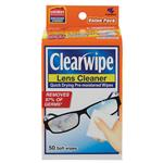 Clearwipe Lens Cleaner 50 Wipes Exclusive Size