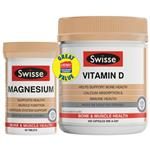 Swisse Ultiboost Vitamin D 400 Capsules + Magnesium 60 Tablets Exclusive Size