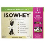 IsoWhey Weight Management Whey Protein 21 Sachets Madagascan Vanilla
