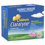 Claratyne Children's Hayfever & Allergy Relief Antihistamine Bubblegum Flavoured Chewable Tablets 30 pack