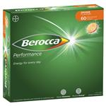 Berocca Energy Vitamin Orange Effervescent Tablets 60 pack Exclusive Size