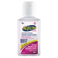 Aqium Anti-Bacterial Hand Sanitiser Ultra 60Ml