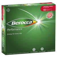 Berocca Energy Vitamin Original Berry Effervescent Tablets 60 pack Exclusive Size