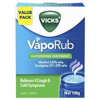 Vicks Vaporub Vapourising Ointment Jar 100g