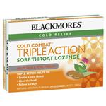 Blackmores Cold Combat Triple Action Sore Throat Lozenge 24 Pack