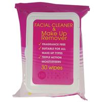 Health & Beauty Make Up Remover Wipes 30 Pack with Plastic Lid