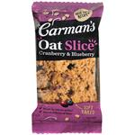 Carmans Cranberry & Blueberry Oat Slice 70g