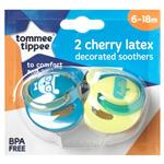 Tommee Tippee Closer To Nature Cherry Soothers 6-18 Months 2 Pack