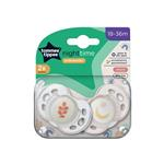 Tommee Tippee Closer To Nature Night Time Soothers 18-36 Months 2 Pack