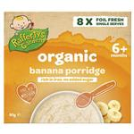 Raffertys Garden 6+ Months Organic Banana Porridge Cereal 8 x10g Single Serve
