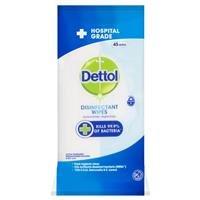 Dettol Surface Cleaner Wipes 45pk Antibacterial Disinfectant