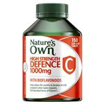 Nature's Own High Strength Defence Vitamin C Sustained Release 150 Tablets
