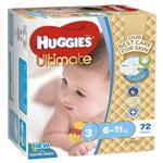 Huggies Jumbo Ultimate Crawler Boy 72 Pack